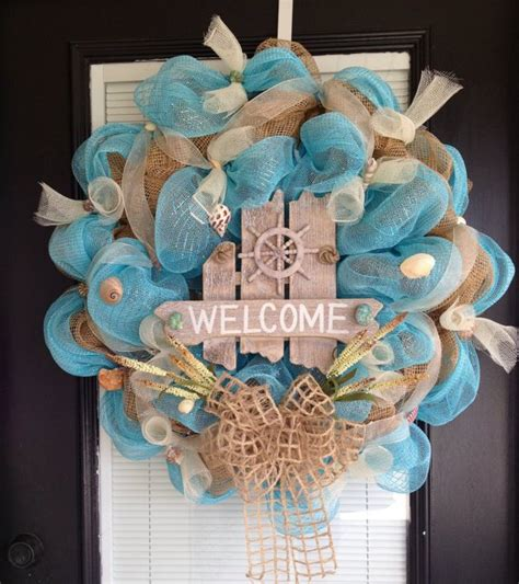 coastal door wreaths 35 brilliant themed wreath ideas
