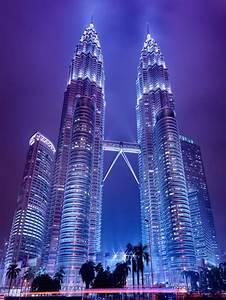 Petronas Towers Storm Clouds Night Haze Pollution Air ...