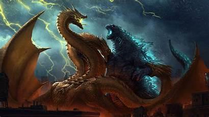 Godzilla Ghidorah King 4k Monsters Ultra Quad