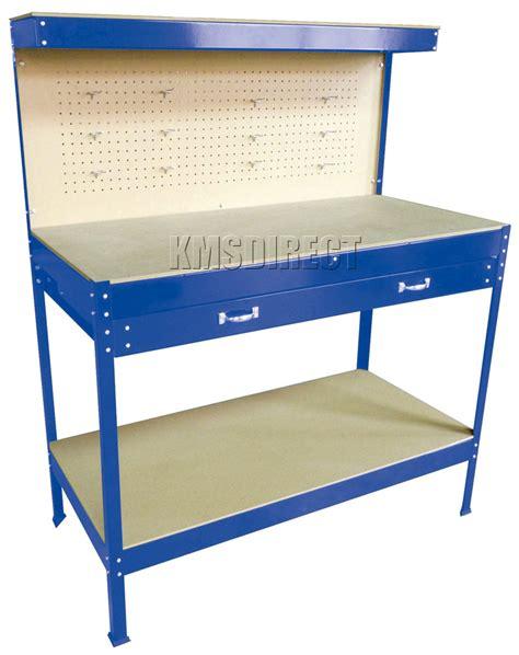 heavy duty blue steel garage workbench workshop tool box