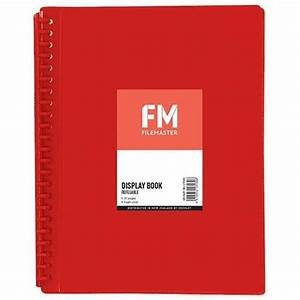 Fm A4 Insert Cover Refillable Display Book 20 Pocket Red