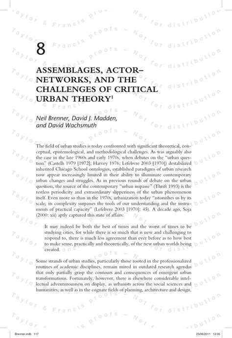assemblage actor networks   challenges