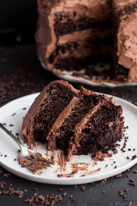 layer cake simple chocolate birthday cake  whipped