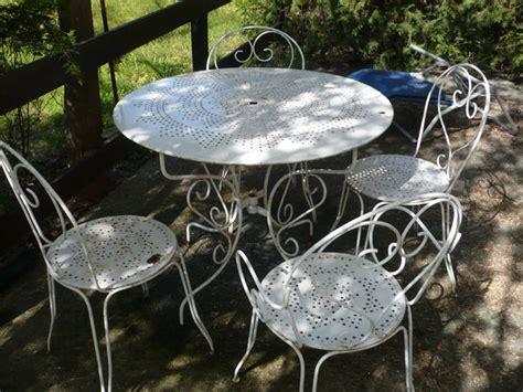 table de jardin en fer forge occasion salon jardin fer forge clasf