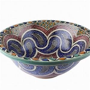 Bemalte Keramik Waschbecken : marokkanische waschbecken fliesen und armaturen buntes marokko ~ Markanthonyermac.com Haus und Dekorationen