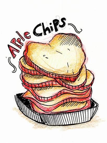 Chips Apple Starving Artful Epicurean Snacks Students
