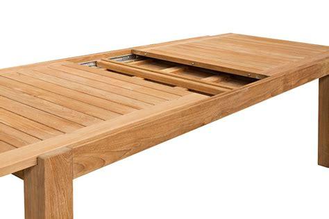 table de cuisine avec rallonges table de jardin de grande taille en teck massif avec