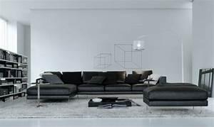 canape d39angle dans le salon pour plus de confort a la maison With tapis moderne avec canape d angle gris en cuir