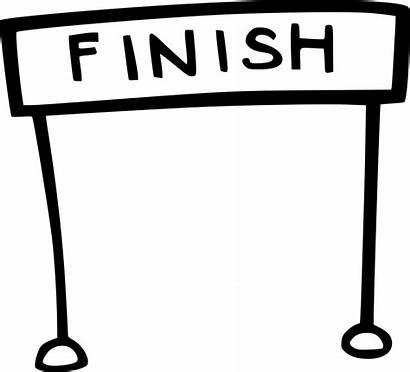 Finish Line Clipart Clip Transparent Icon Goal