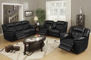 black leather living room furniture black living room