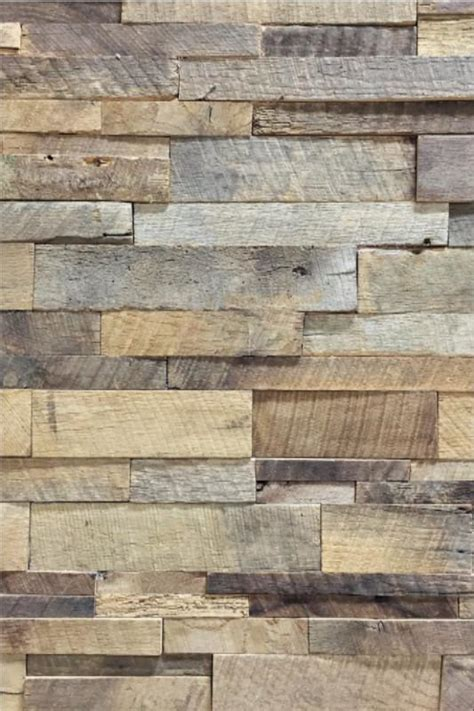 reclaimed barn wood stacked wall panels antique barrel