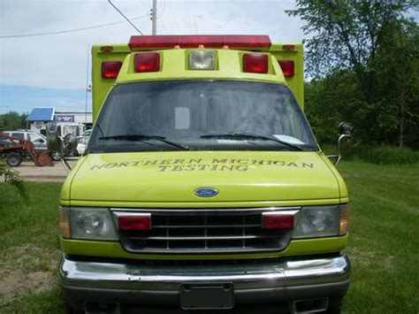 how cars engines work 1995 ford f series interior lighting sell used 1995 ford ambulance cer work van in big rapids michigan united states