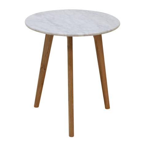 Life Interiors  Oia Marble Side Table (oak)  Modern Side