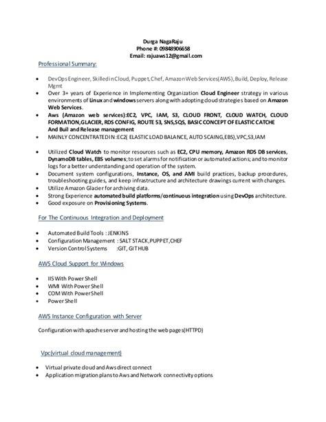 devops resume