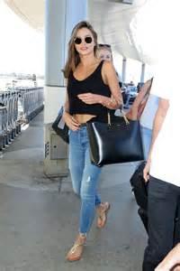 Miranda Kerr in Jeans at LAX airport in LA