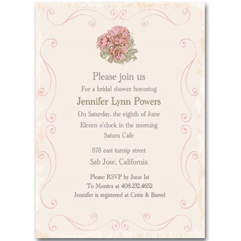 vintage pink flower printable invitations for bridal