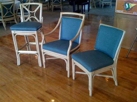 shelby williams rattan restaurant chairs for sale