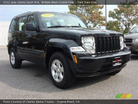 black jeep liberty interior brilliant black crystal pearl 2012 jeep liberty sport