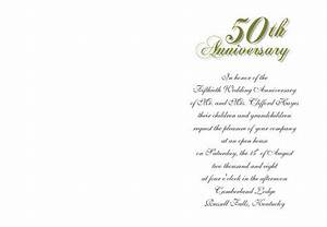 50th wedding anniversary invitations for Marriage anniversary invitation letter