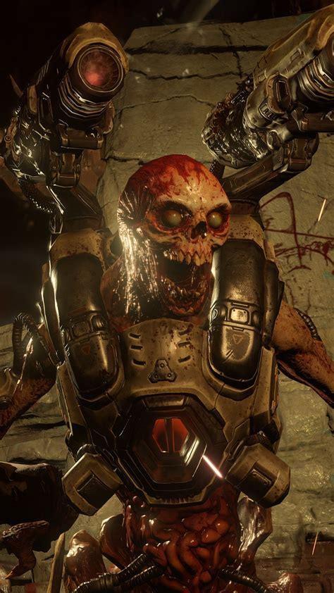 doom  game character skull skeleton cyberdemon hd