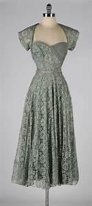 Vintage 1940's Sage Green Lace Cocktail Dress at 1stdibs