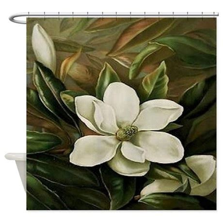 magnolia shower curtain magnolia shower curtain by maggiesheartvintageshoppe