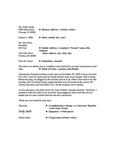 business letter template   create fill
