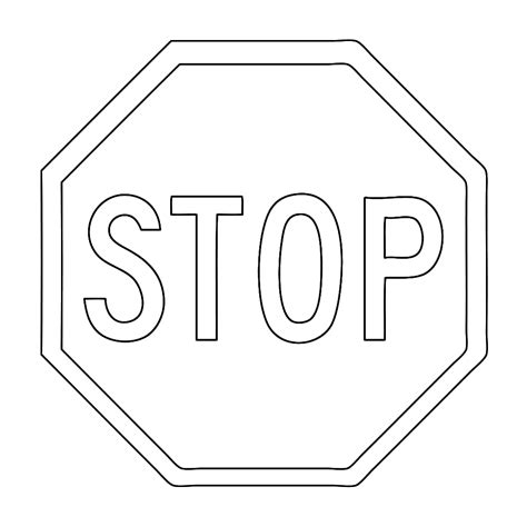 Verkeersborden Kleurplaat by Leuk Voor Stop