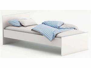 Lit Fille Blanc : lit 90x190 cm switch coloris blanc vente de lit enfant ~ Teatrodelosmanantiales.com Idées de Décoration