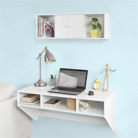 rangement mural bureau sobuy wall mounted dining work table computer desk with