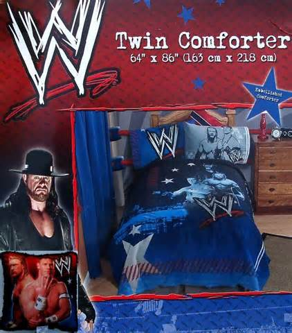 wwe wrestling 4pc twin comforter sheets bedding set new