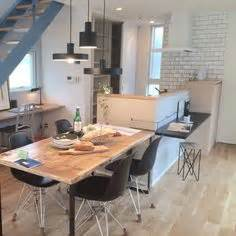 pictures of islands in kitchens kitchen island with dining table extension キッチンと一体のカウンターと 7459