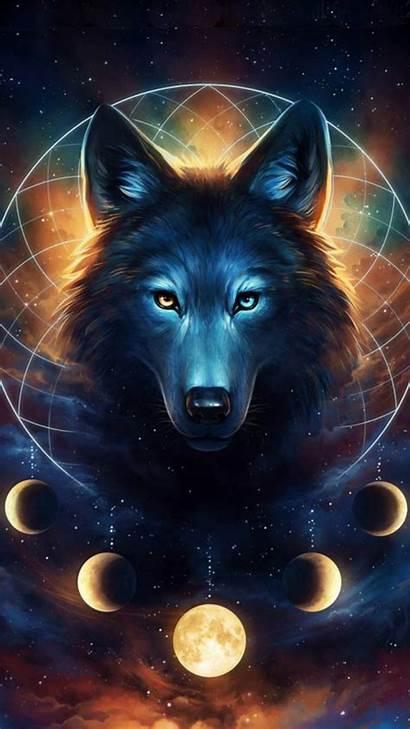 Spirit Wolf Zedge Wolves Galaxy Dark Stars