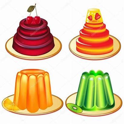 Gelatina Jelly Postres Conjunto Gelee Desserts Platos