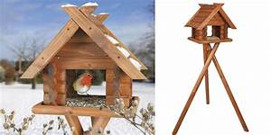 Mangeoire Oiseaux Sur Pied : mangeoire sur pieds natura forme chalet pour oiseaux de la nature ~ Teatrodelosmanantiales.com Idées de Décoration
