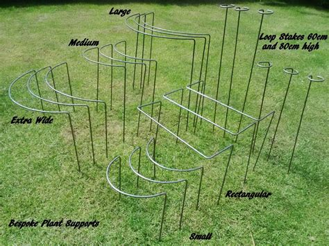 Metal Plant Supports And Stakes Various Sizesdesigns Ebay