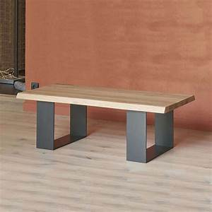 Pied De Table Metal Industriel : table basse moderne style industriel en ch ne massif et ~ Dailycaller-alerts.com Idées de Décoration