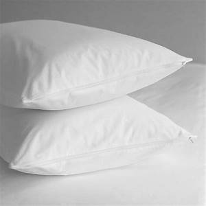 King Of Cotton : pillow protector pair pure cotton 200 thread percale ~ Nature-et-papiers.com Idées de Décoration