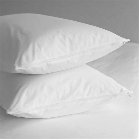 Pillow Protector (Pair) Pure Cotton 200 thread Percale Teflon Coated King of Cotton