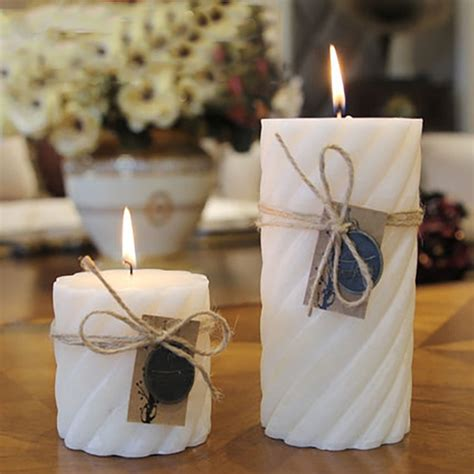 wedding decoration white candle essential oil bougies