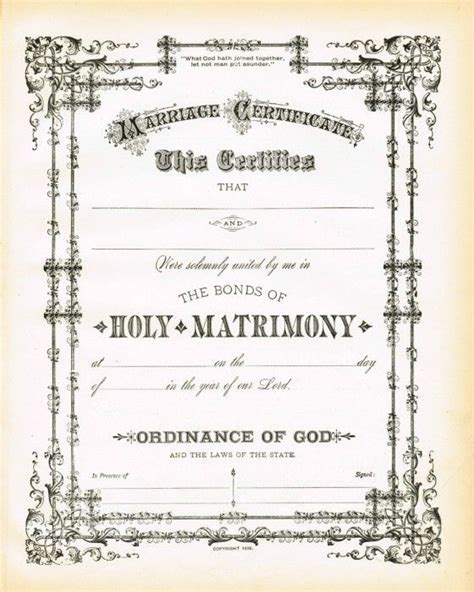 Certificate Of Wiccan Ordination Template Free by Best 25 Wedding Certificate Ideas On Pinterest