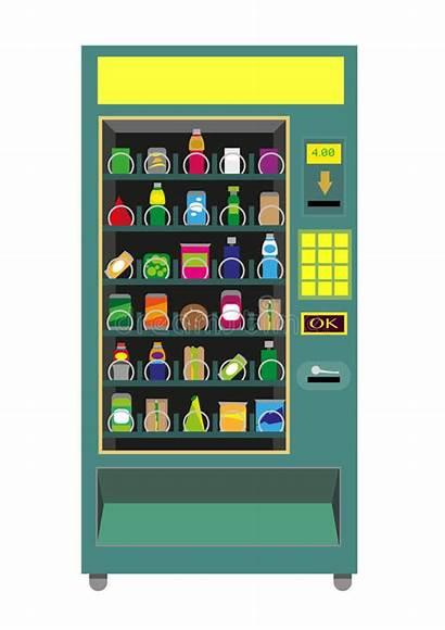 Vending Machine Vector Isolated Illustration Beverage Electronic