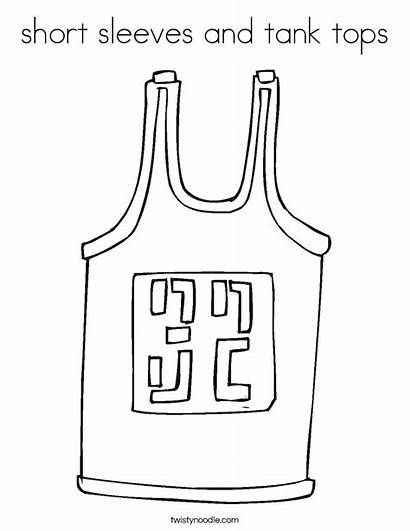 Coloring Tank Short Tops Sleeves Jersey Template
