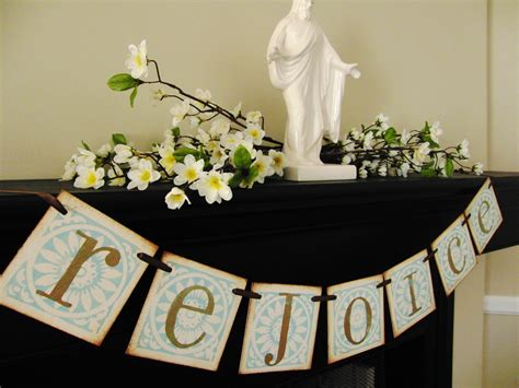 christian easter decoration rejoice banner sign by