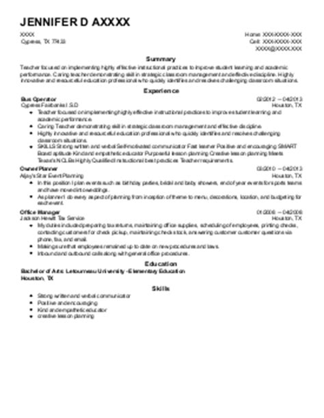 Cypress Resume by Cypress Resume Builder Resume Template