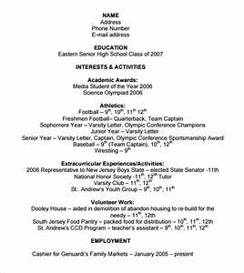 9 sample college resume templates free samples With college application resume template