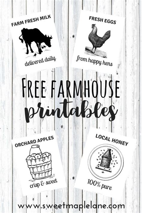 farmhouse printables printables farmhouse