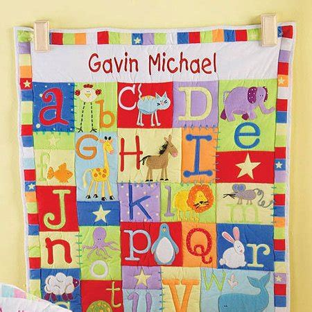 personalized baby alphabet quilt   primary