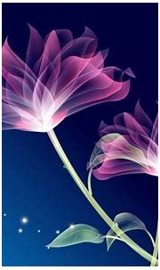 Beautiful Pink Animation With Blue Background HD wallpaper