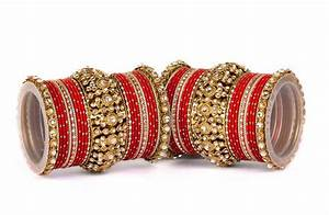 Buy Beautiful golden dot pattern bangle set for two hands ...